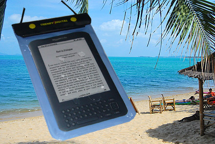 WaterGuard Waterproof Case for Kindle 3 , Blue
