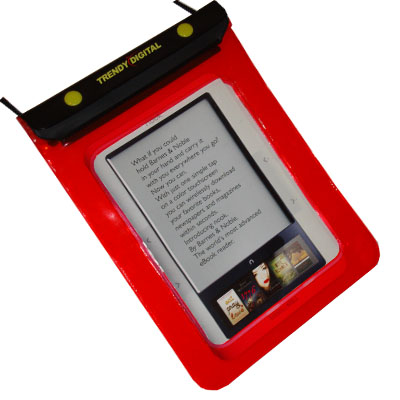 WaterGuard Waterproof Case for Nook, Blue Border