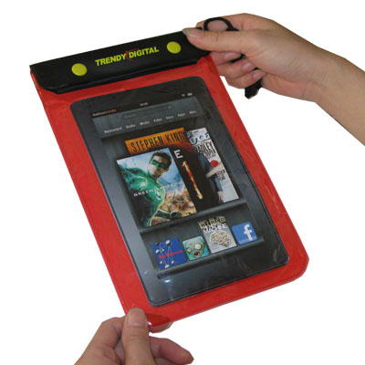 WaterGuard Waterproof Case for Kindle Fire, Red