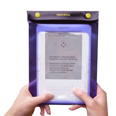 WaterGuard Waterproof Case for Kindle 1 & 2, Purple Border