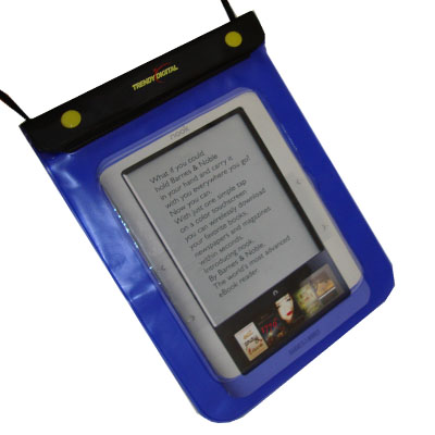 WaterGuard Waterproof Case for Nook, Purple Border