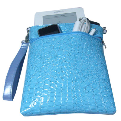 InStyle eReader Travel Bag for the Kindle, Blue Color - Click Image to Close