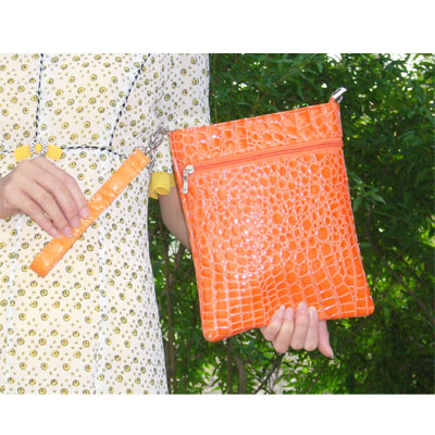 InStyle eReader Travel Bag for the Kindle, Orange Color