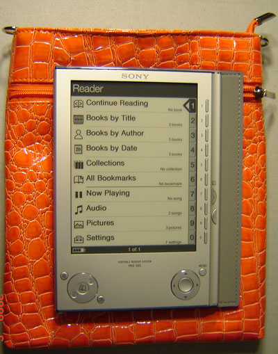 InStyle eReader Travel Bag for Sony Reader, Orange Color
