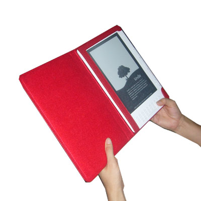 TrendyDigital Kindle DX Leather Cover, Red - Click Image to Close