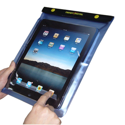 WaterGuard Waterproof Case for iPad, Blue Border