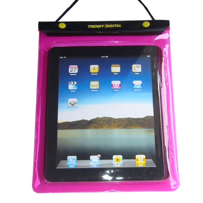 WaterGuard Waterproof Case for iPad, PinkBorder