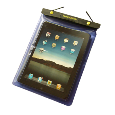 WaterGuard Waterproof Case for iPad, Purple Border