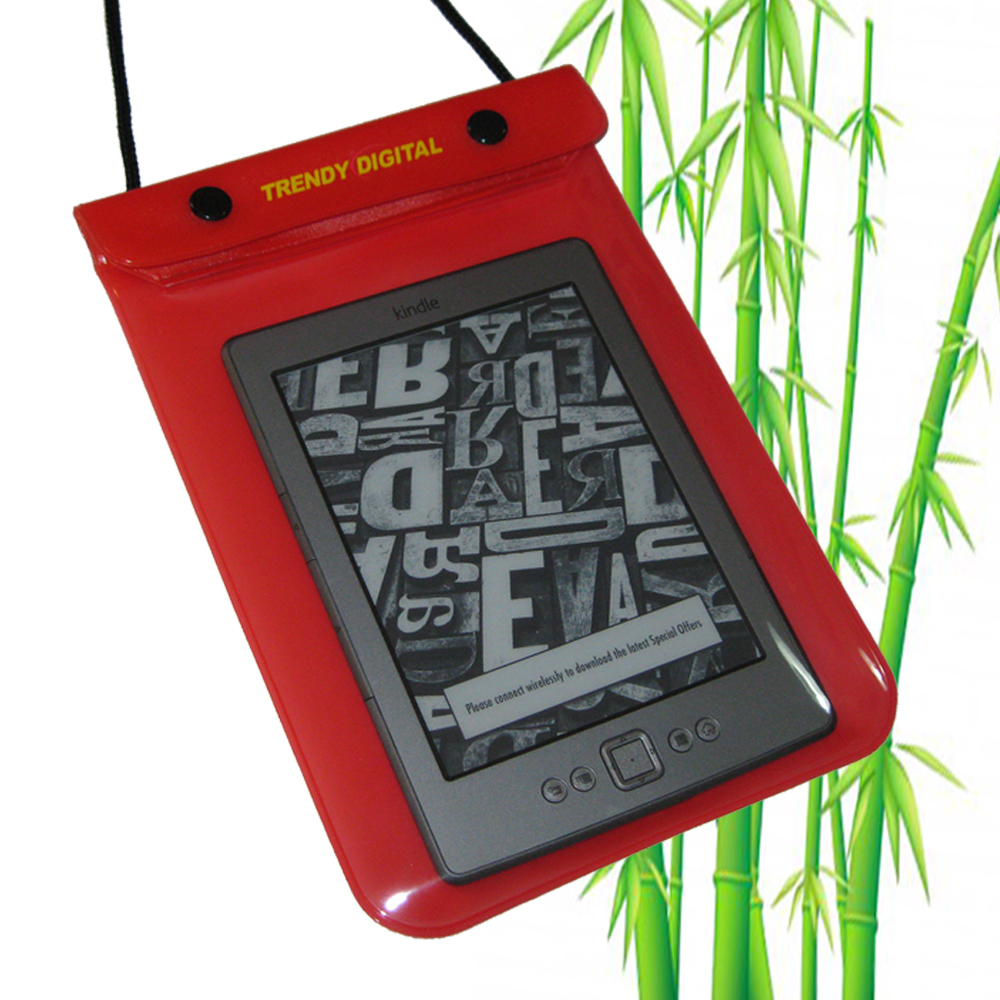 WaterGuard Waterproof Case for Kindle 4 ( 4thGeneration), Red - Click Image to Close
