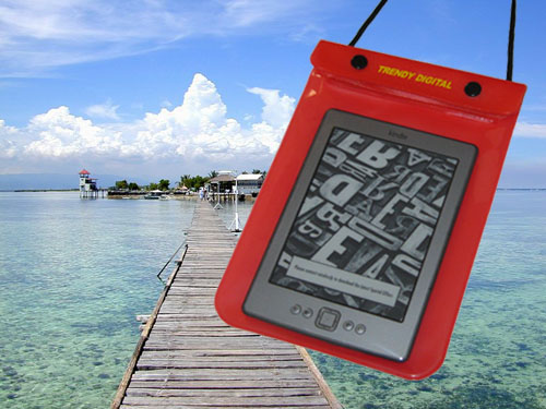 WaterGuard Waterproof Case for Kindle 4 ( 4thGeneration), Red
