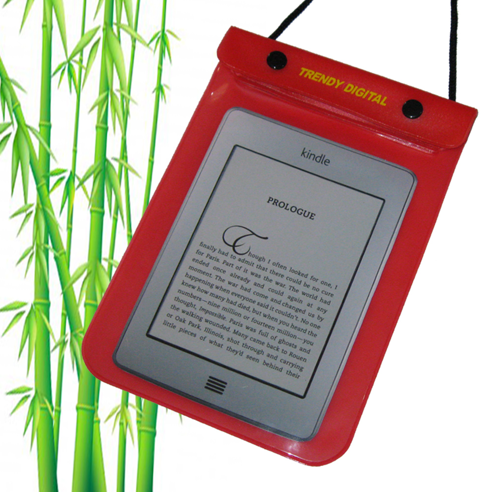 WaterGuard Waterproof Case for Kindle Touch, Red