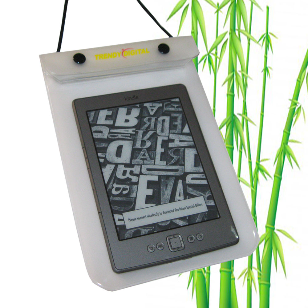WaterGuard Waterproof Case for Kindle 4 ( 4thGeneration), White - Click Image to Close