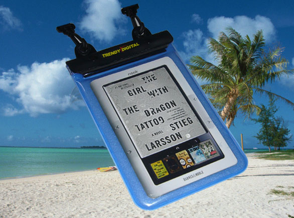 WaterGuard Plus Waterproof Case for the B&N nook, Blue