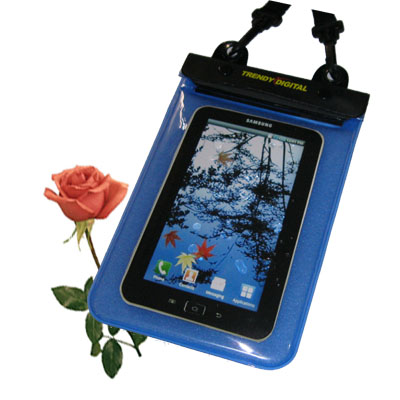 Waterproof Case for Samsung Galaxy Tab w/Padding, Blue