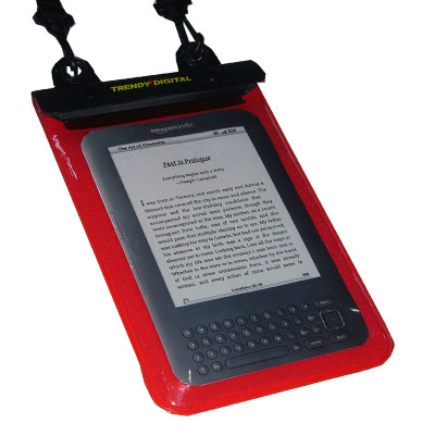 WaterGuard Plus Waterproof Case for Kindle 3 w/Padding, Red