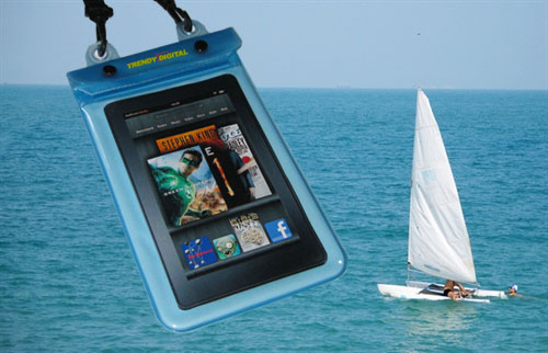 WaterGuard Plus Waterproof Case for Kindle Fire w/Padding, Blue