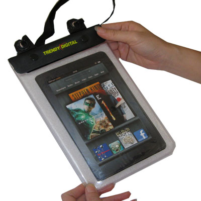 WaterGuard Plus Waterproof Case for Kindle Fire w/Padding, White