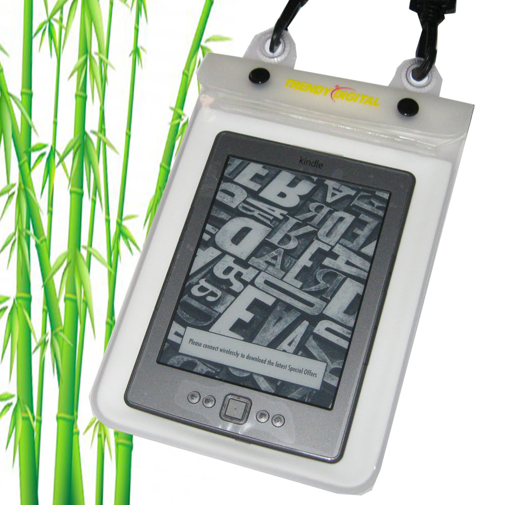 WaterGuard Plus Waterproof Case for Kindle 4 w/Padding, White