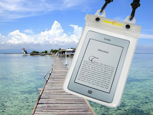 WaterGuard Plus Waterproof Case for Kindle Touch w/Padding,White