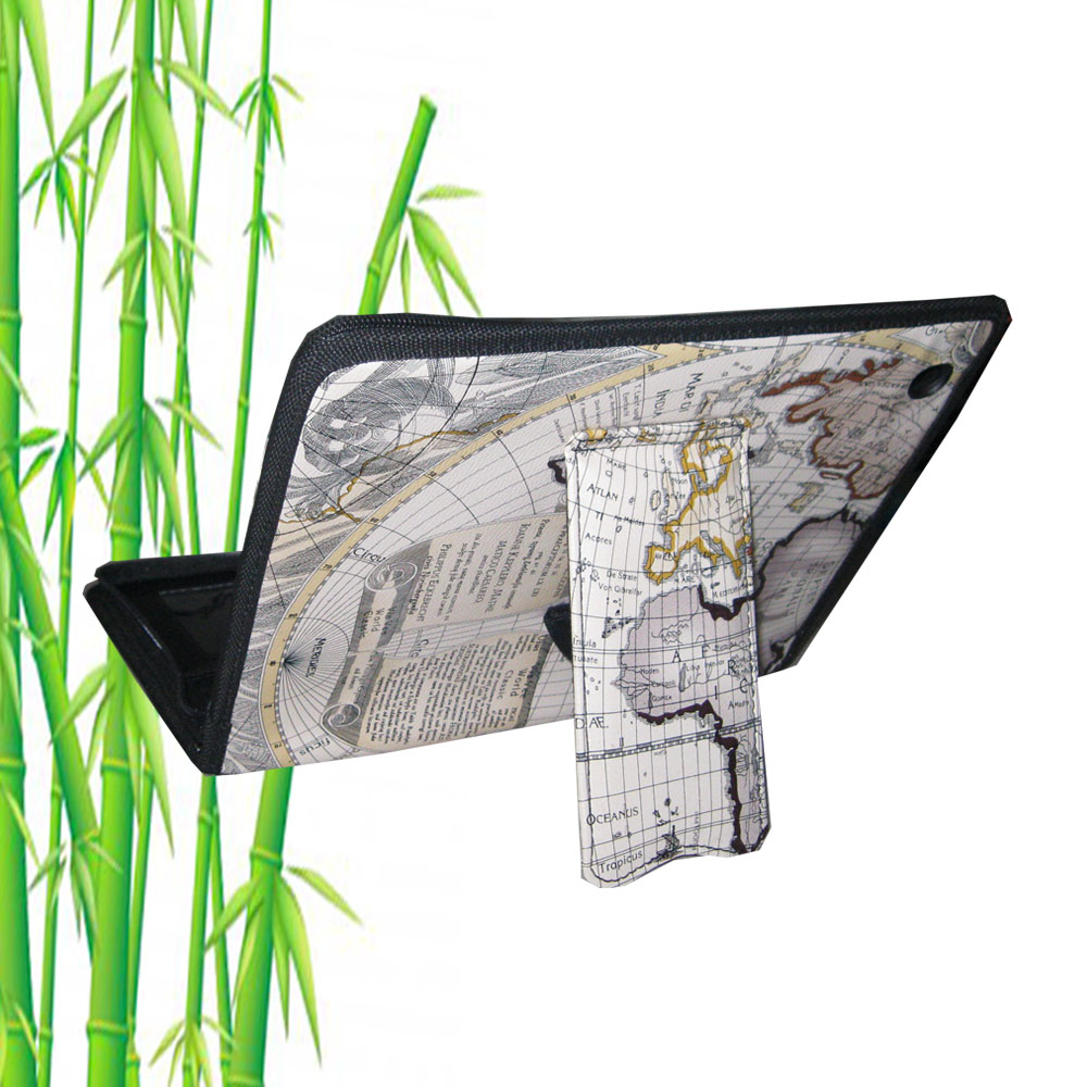 TrendyDigital PadGear Folio Cass for Apple New iPad , Map