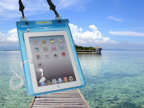 Premiun WaterGuard PLus Waterproof Case for New iPad, Blue