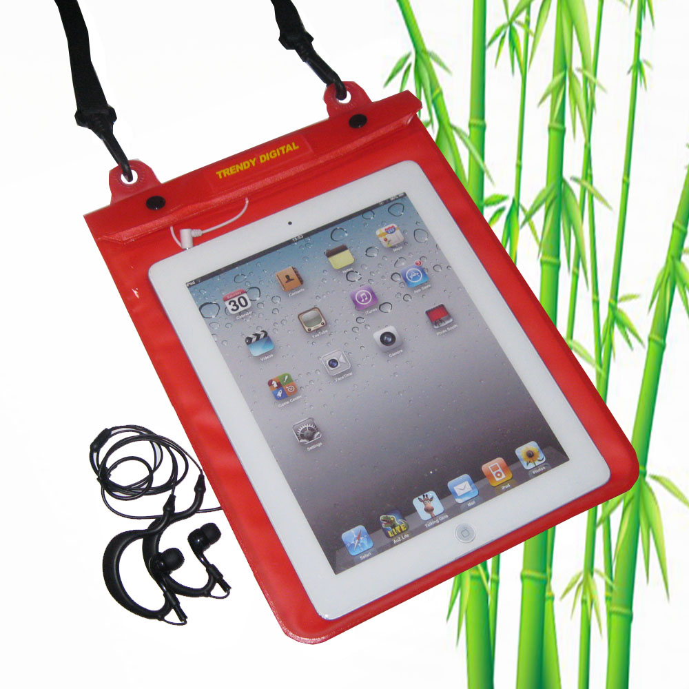 Premium WaterGuard PLus Waterproof Case for New iPad, Red