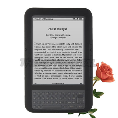 High Grade Silicone Gel Case for the Amazon Kindle 3, Black