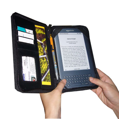 TrendyDigital Courier Folio Cass for Kindle 3, Black