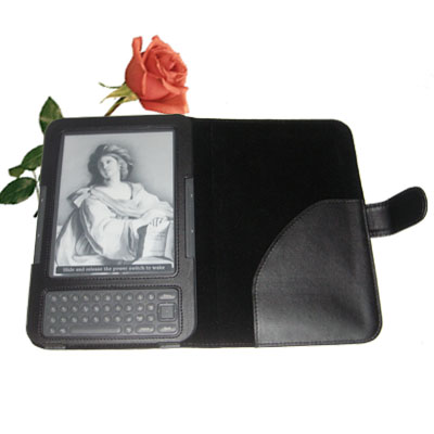 MaxGuard Plus Case for Kindle 3 ( Kindle on the leftSide) Black