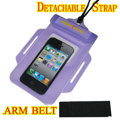 WaterGuard Waterproof Case for iPhone 4 and iPhone 4S, Purple