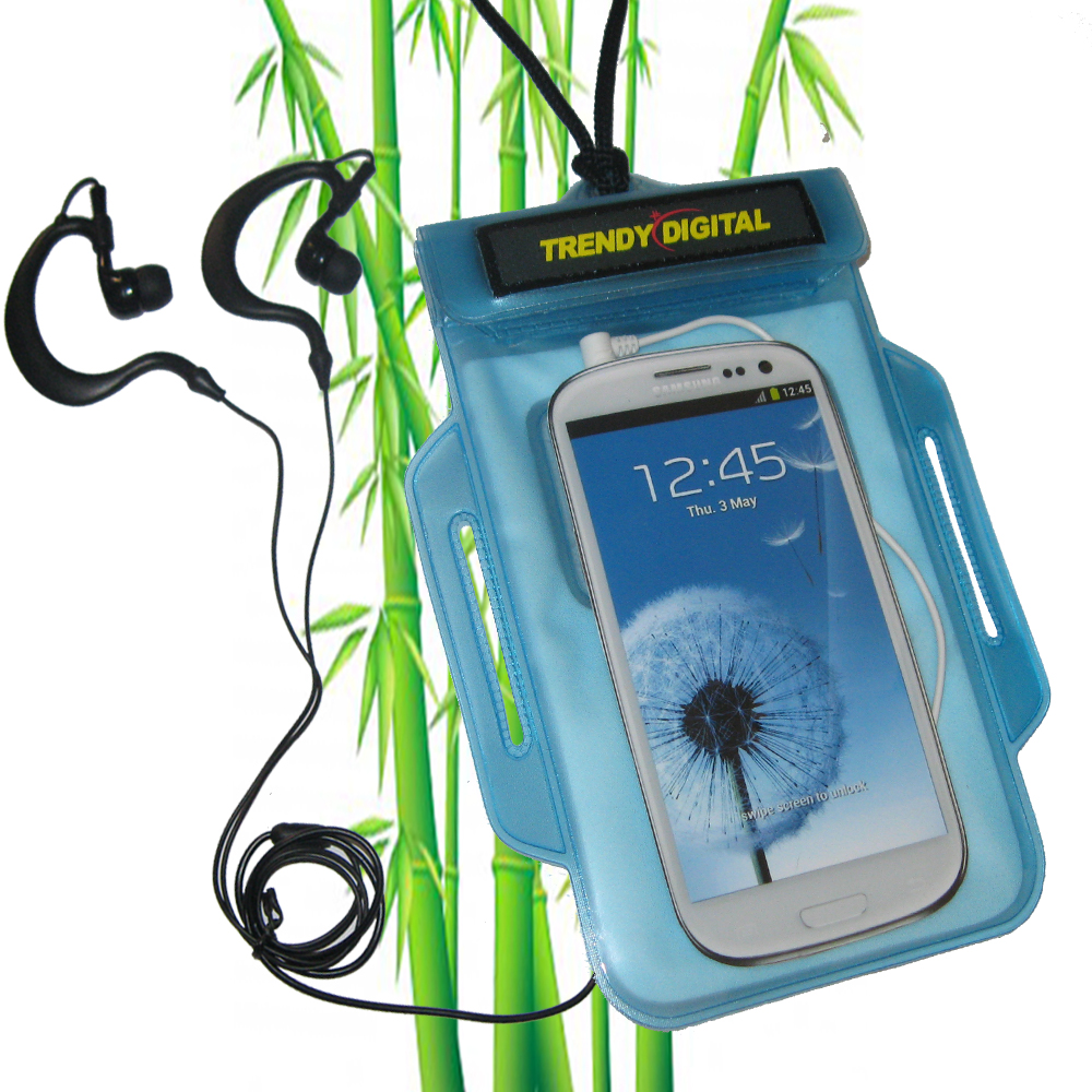 TrendyDigital H2OProof Audio Case for Galaxy S III, Blue