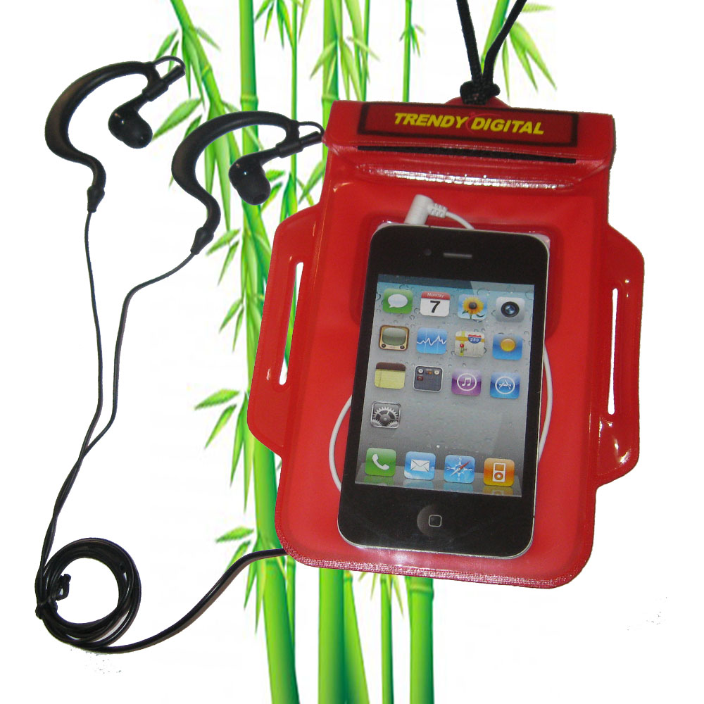 H2OProof Audio Case for iPhone 4 and iPhone 4S, Red