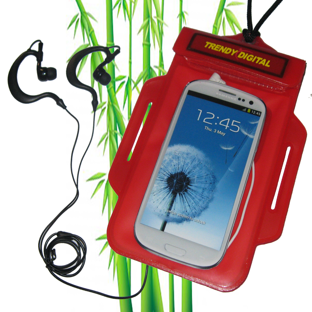 TrendyDigital H2OProof Audio Case for Galaxy S III, Red