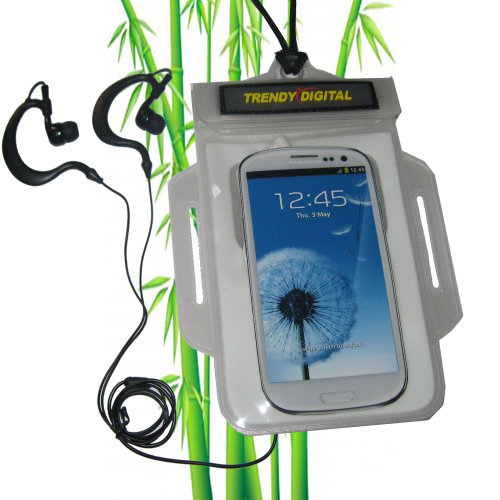TrendyDigital H2OProof Audio Case for Galaxy S III, White