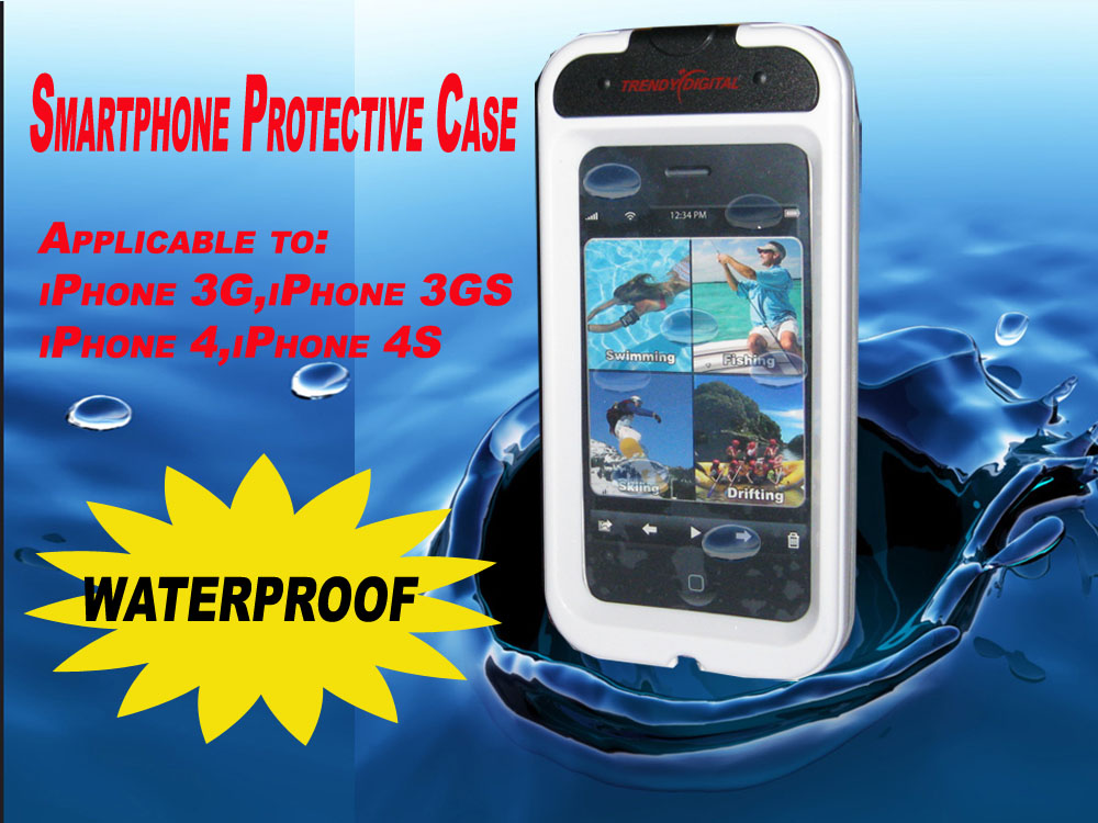 EasySeal Waterproof Case for iPhone 4 and iPhone 4S, White