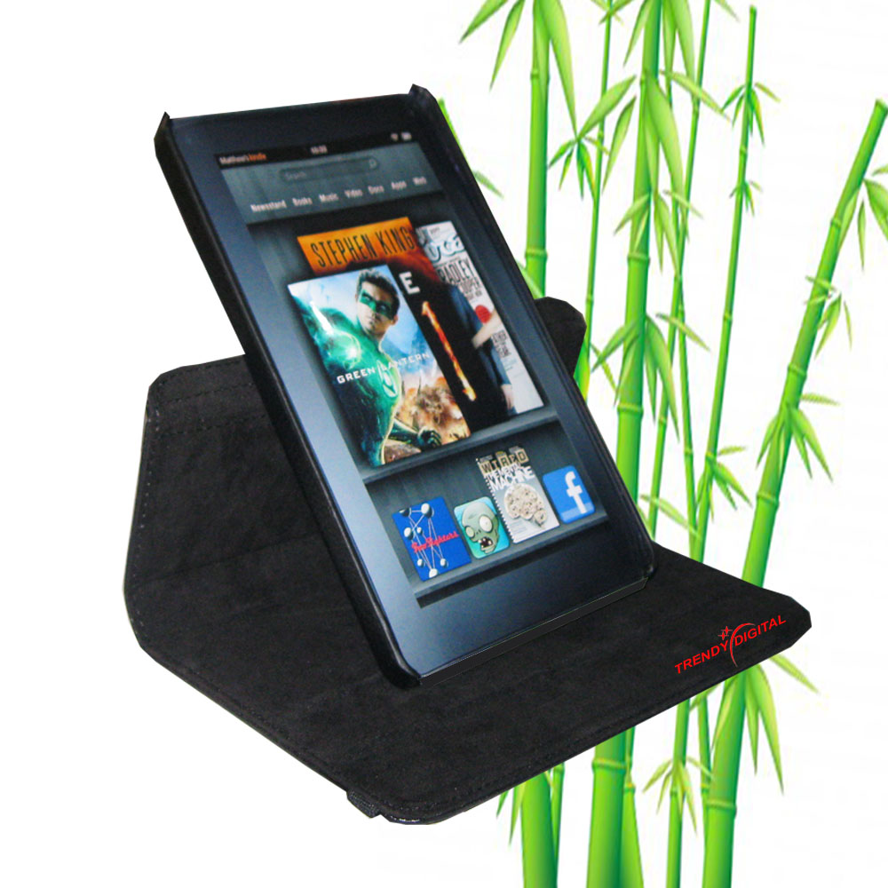 TrendyDigital 360 Rotating Case for Kindle Fire, Black