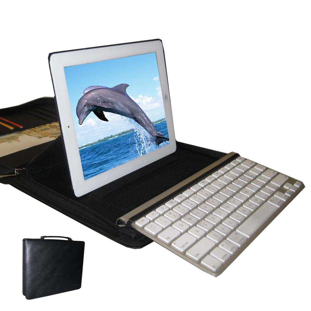 KasePal for iPad & Apple Wireless Keyboard, PU Leather (Black)
