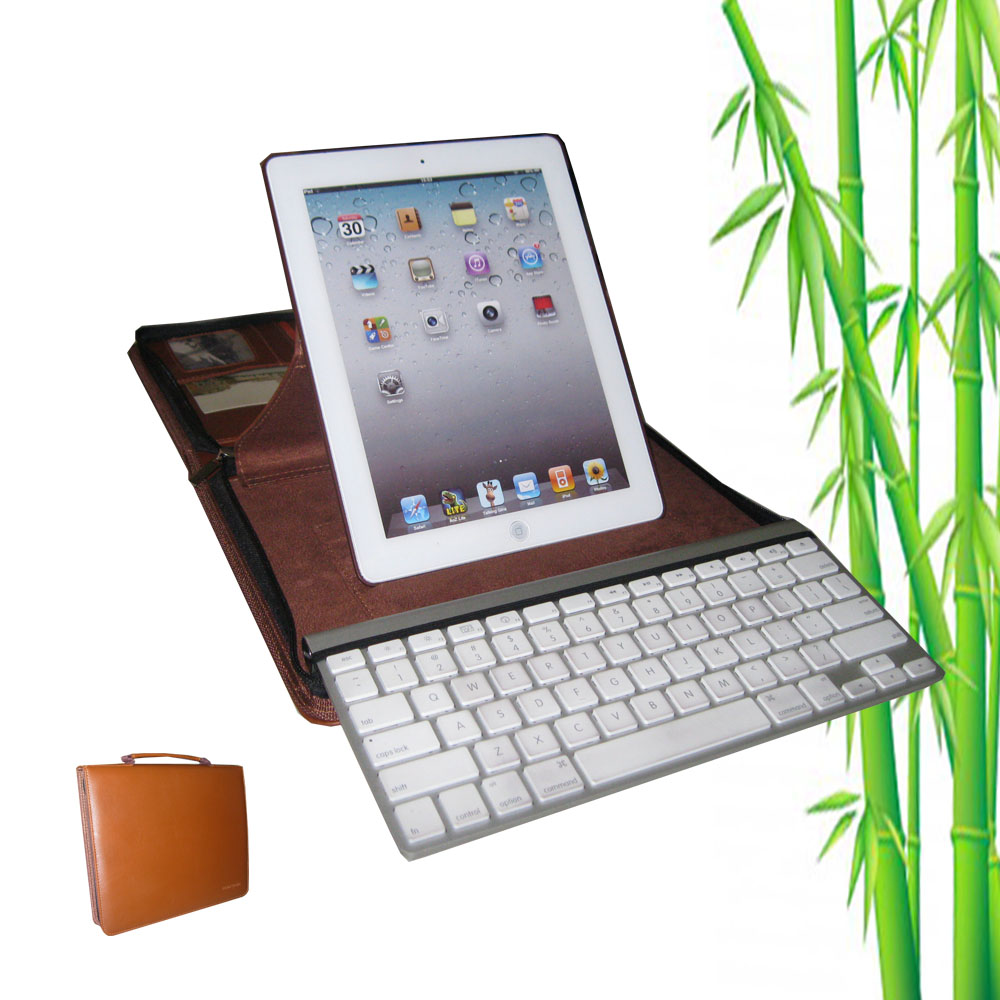 KasePal for iPad & Apple Wireless Keyboard, PU Leather (Brown)