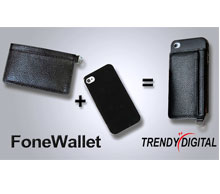 Genuine Leather Modern Phone Wallet Add-on to Phone Case