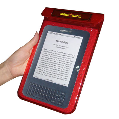 SplashGuard Splash Proof Case for Kindle 3 w/Padding, Red