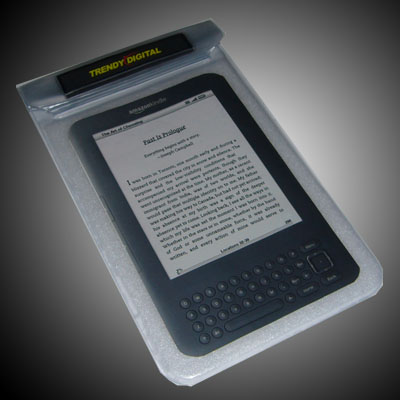 SplashGuard Splash Proof Case for Kindle 3 w/Padding,White