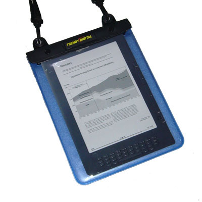 WaterGuard Plus Waterproof Case w/Padding for Kindle DX, Blue
